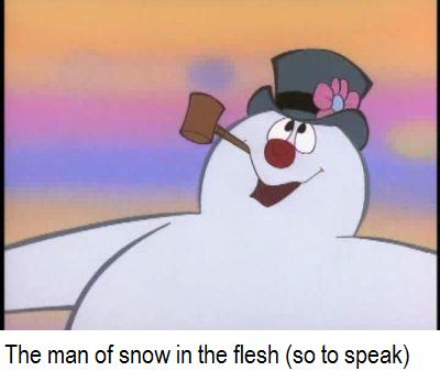 frosty the snowman saying happy birthday ; Frosty
