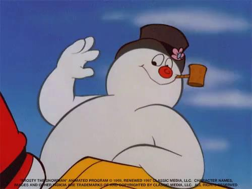 frosty the snowman saying happy birthday ; tenor