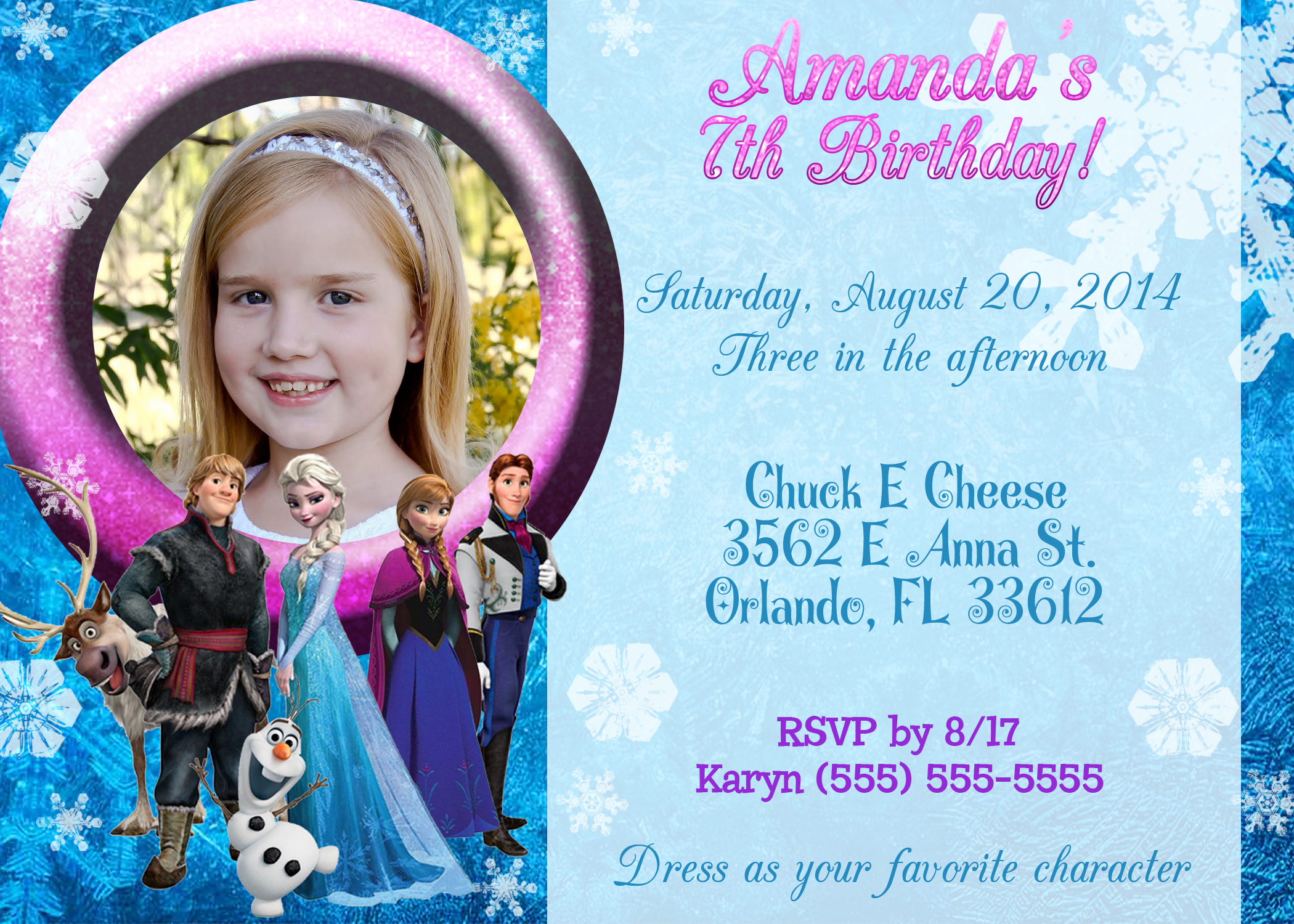 frozen birthday invitation maker ; frozen-birthday-invitation-with-stunning-Birthday-Invitation-Templates-as-a-result-of-an-application-using-a-felicitous-concept-12