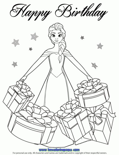 frozen happy birthday coloring pages ; 2b5036501d811ced8616add7da19bb54--frozen-coloring-coloring-pages