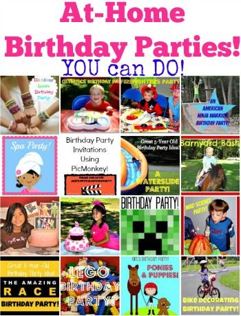 fun at home birthday party ideas ; e7854f2e73d2b4d58ef4ea9fa6b1627a