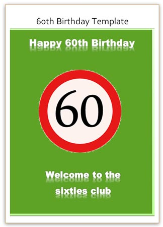 funny 60th birthday card messages ; 6th-card-green