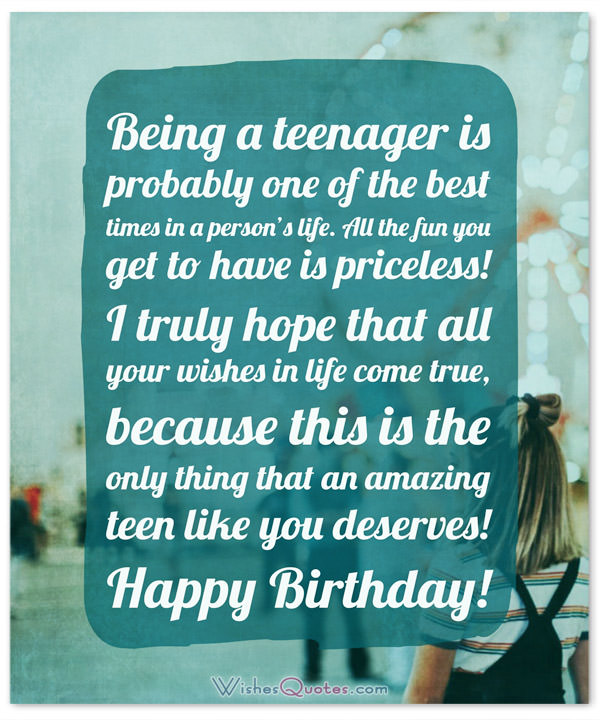 funny birthday card messages for teenagers ; Birthday-Wishes-for-Teenager