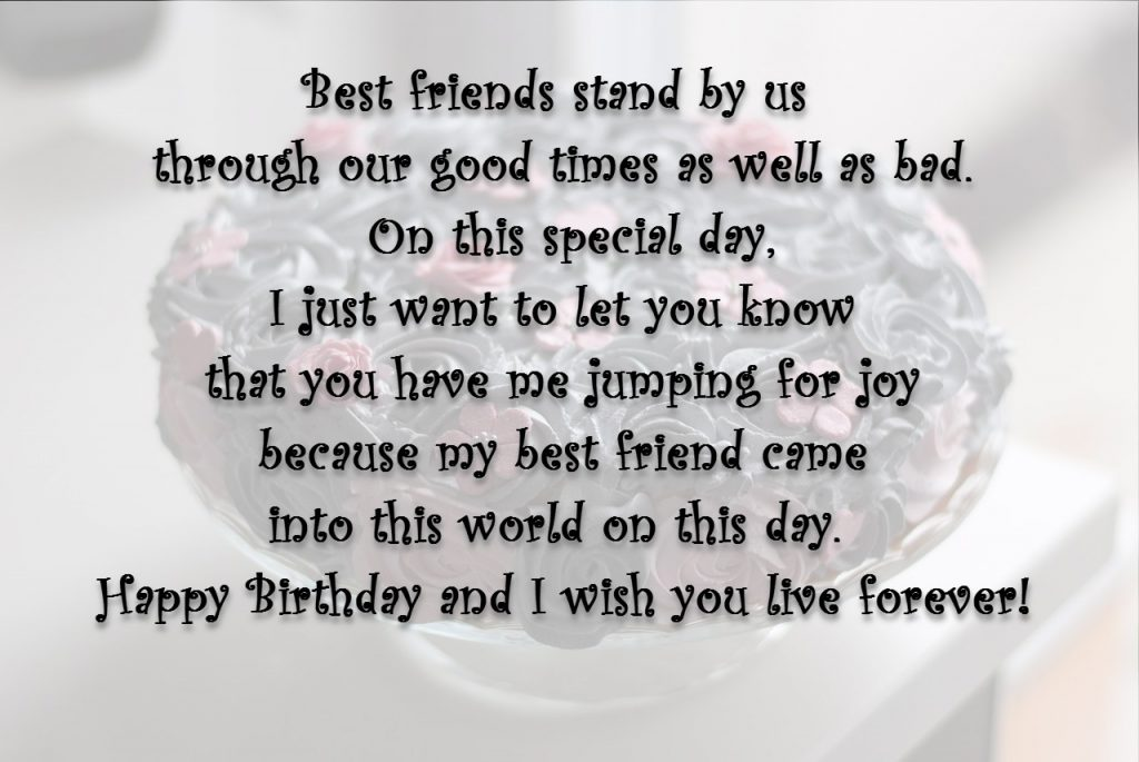 funny birthday wish for best friend forever ; Best-friends-stand-by-us-through-our-good-times-as-well-as-bad