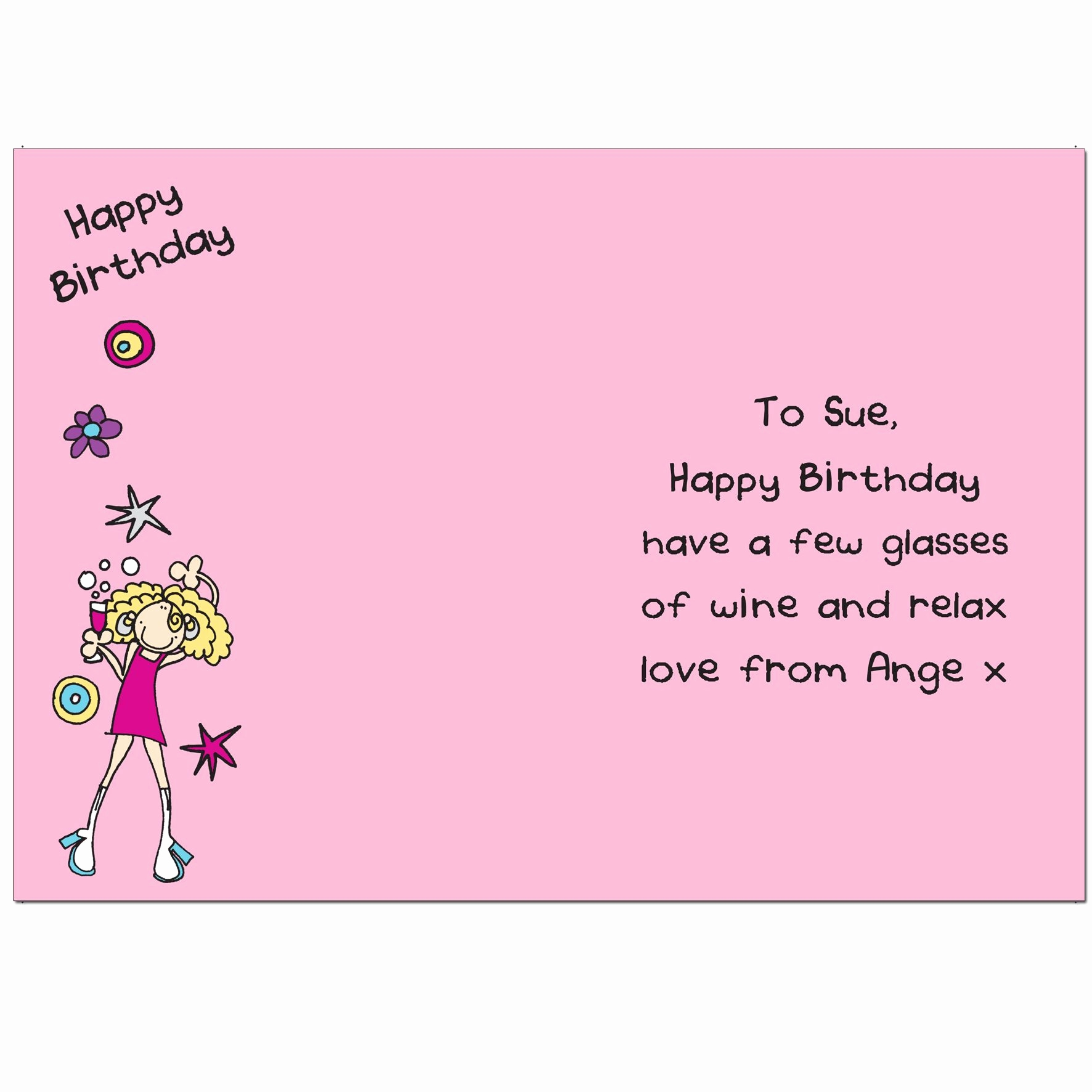 Funny Message For Sister Birthday Cute Cards