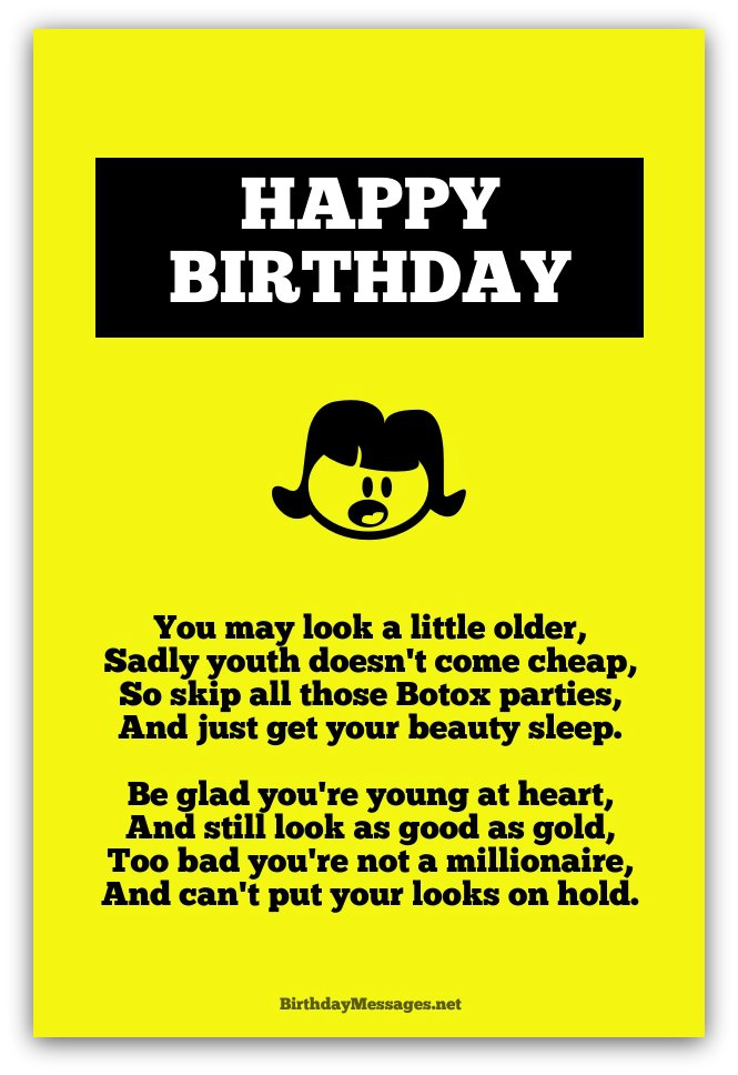 funny poems to write in a birthday card ; funny-birthday-poems3A
