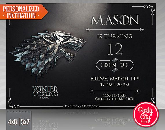 game of thrones birthday invitation ; 6c09a7a18a26da045eb3c4f3a6f212f0--th-birthday-your-birthday