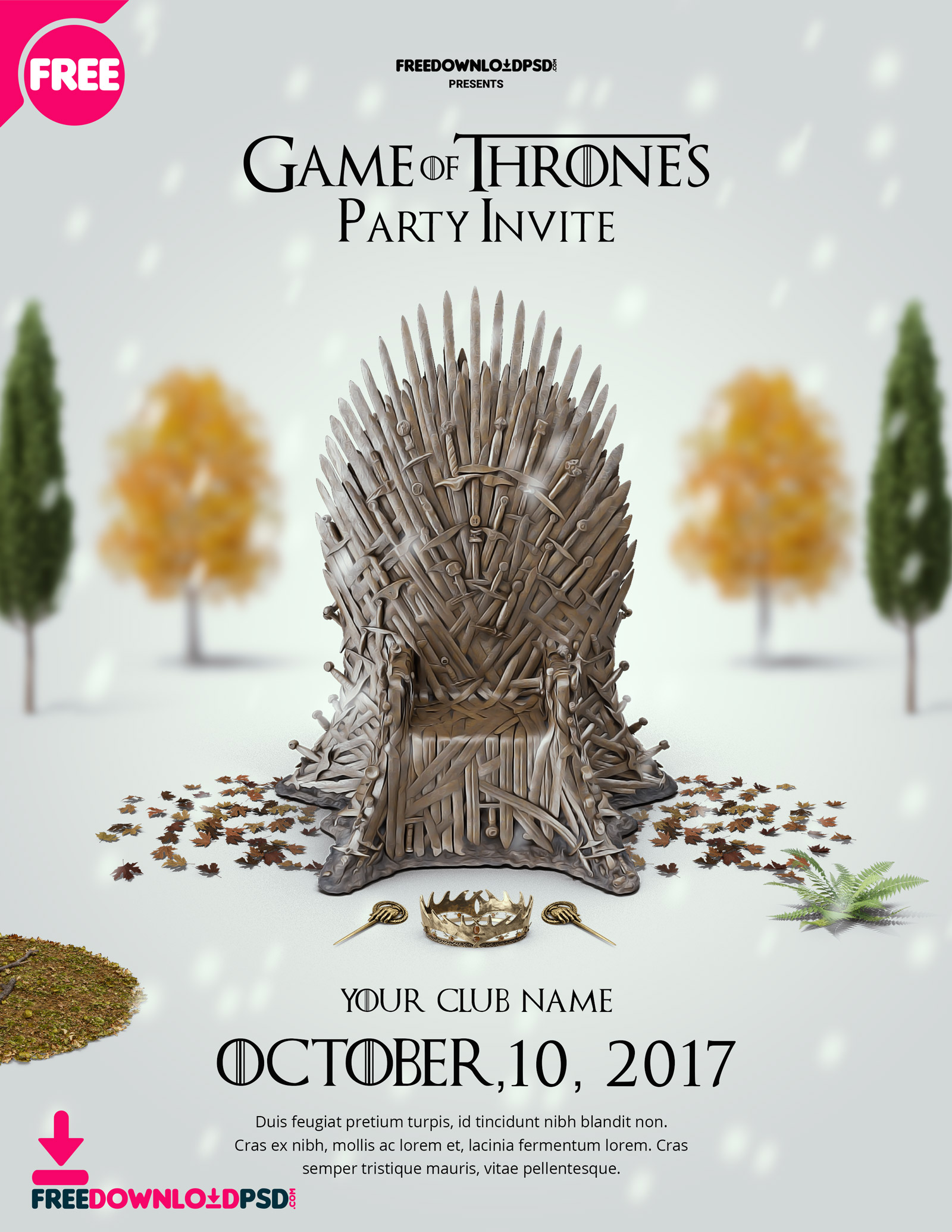 game of thrones birthday invitation ; Game-of-thrones-party-invite