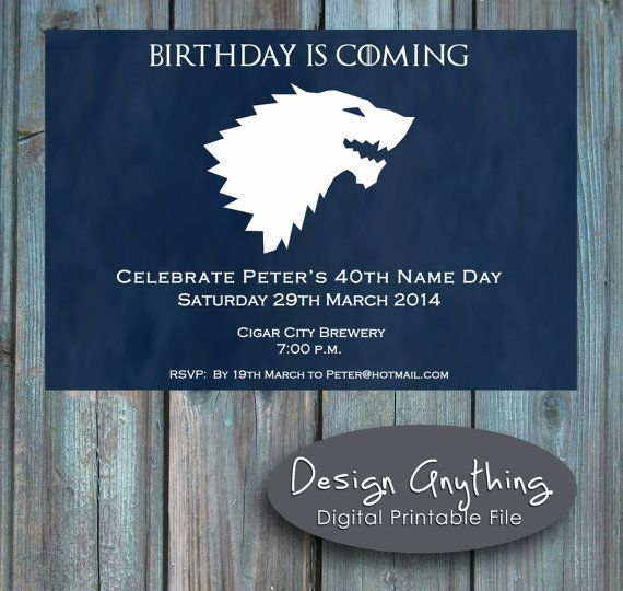 game of thrones birthday invitation ; f705cdf32f3052bf0528de504819c7a7