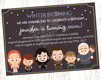 game of thrones birthday invitation ; il_340x270