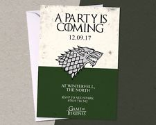game of thrones birthday invitation ; s-l225