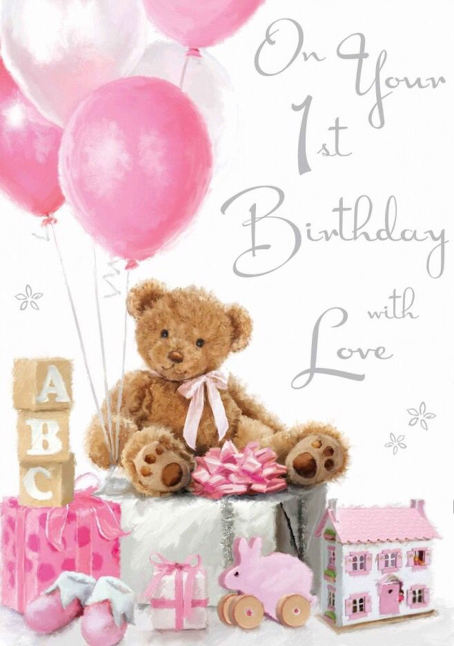 Girl First Birthday Card Sayings Best Happy Birthday Wishes