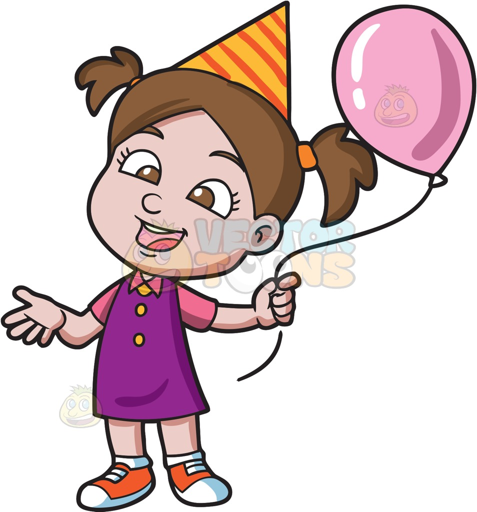 girly birthday clipart ; clipart-of-birthday-girl-a-with-her-balloon-cartoon-vector-toons