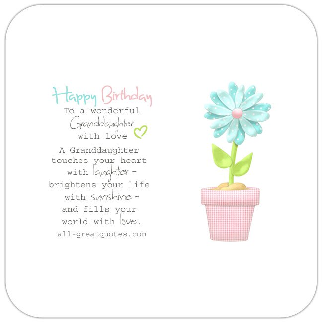 granddaughter 1st birthday card verses ; To-a-wonderful-granddaughter-with-love-share-free-birthday-cards-for-facebook