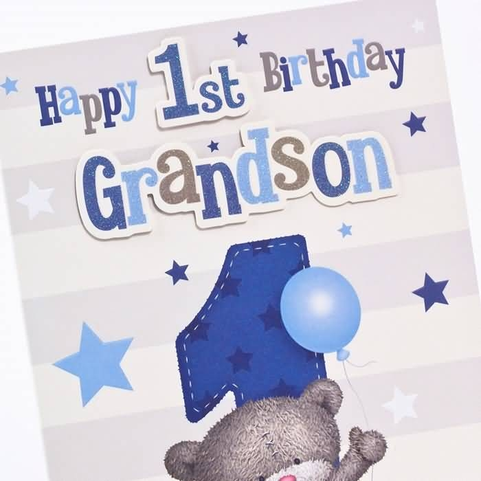 grandson first birthday card ; great-grandson-1st-birthday-card-traditional-1st-birthday-e-card-birthday-wishes-for-grandson
