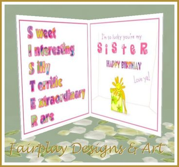 greeting cards for my sister birthday ; 6ede12a5d0e73c123eeefe6203c4e258
