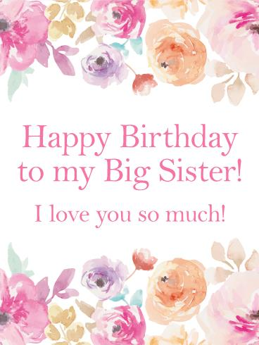 greeting cards for my sister birthday ; 8fd74403ea0fb8e18abab47fc89c1733