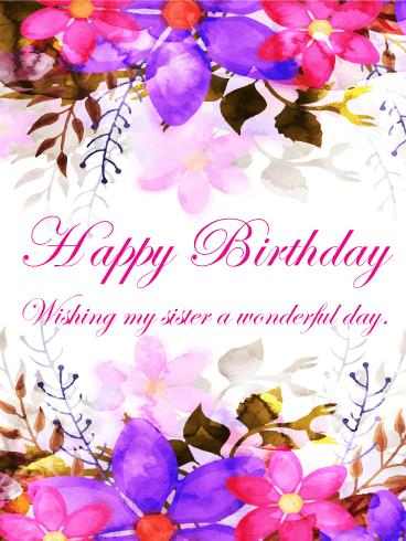 greeting cards for my sister birthday ; b_day_fsi92-21fd59489a7c8da53a46741490f10061
