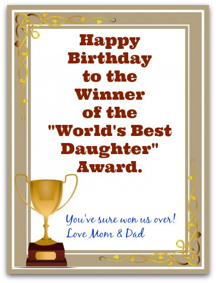 greeting words for birthday wishes ; Trophy2