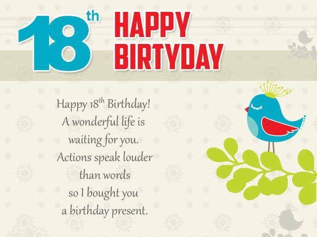 greeting words for birthday wishes ; Wonderful-18th-Birthday-Wishes-and-Messages-640x480
