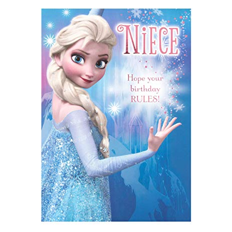 hallmark frozen birthday card ; 916wbZlWNTL