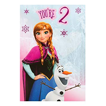 hallmark frozen birthday card ; 91ONk-B1wmL