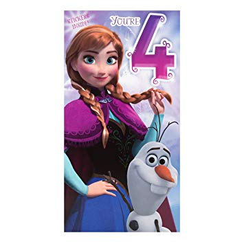 hallmark frozen birthday card ; 91P1hBP44GL