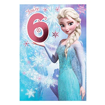 hallmark frozen birthday card ; 91z09rnQZYL