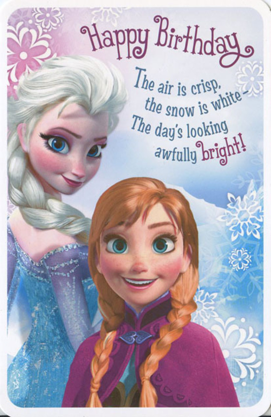 hallmark frozen birthday card ; HMKID638066