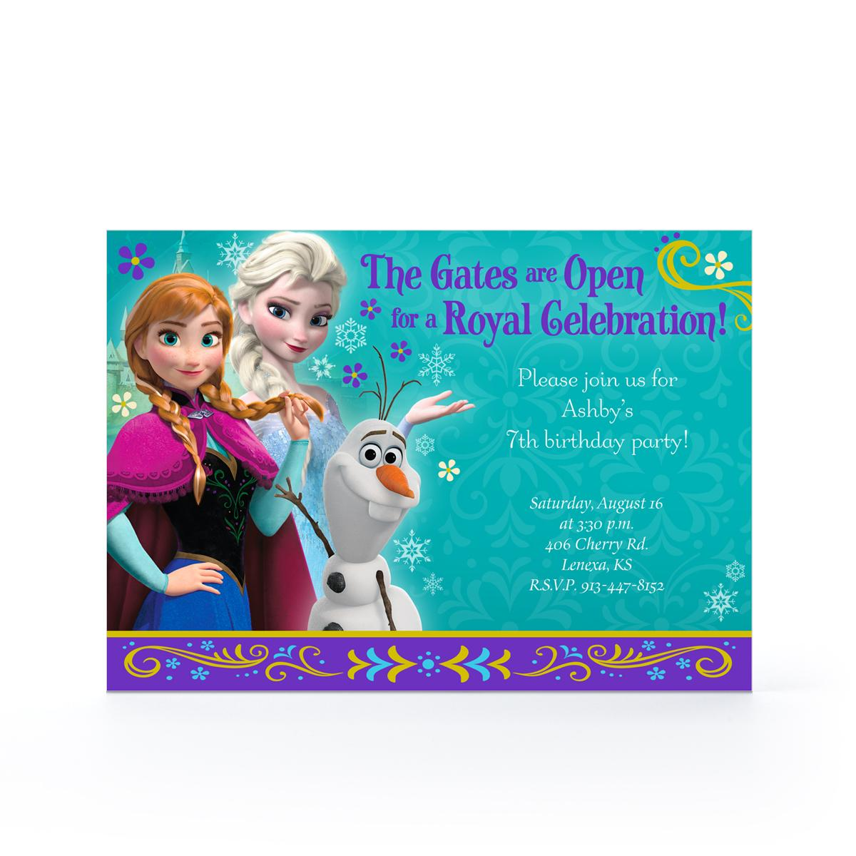hallmark frozen birthday card ; hallmark-birthday-invitations-7
