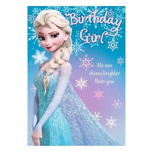 hallmark frozen birthday card ; s-l300