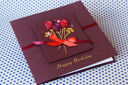 hand made birthday greeting cards ; 017BH01