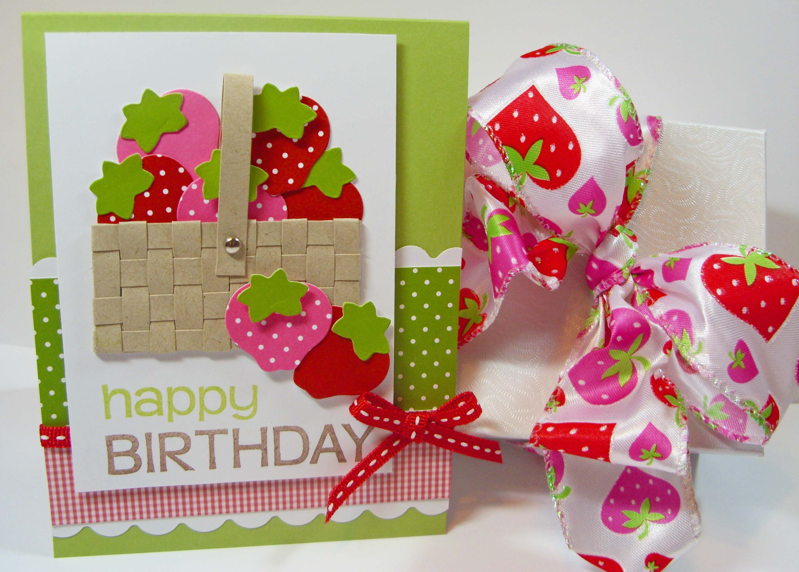 hand make birthday card ; Berry-Happy-Birthday
