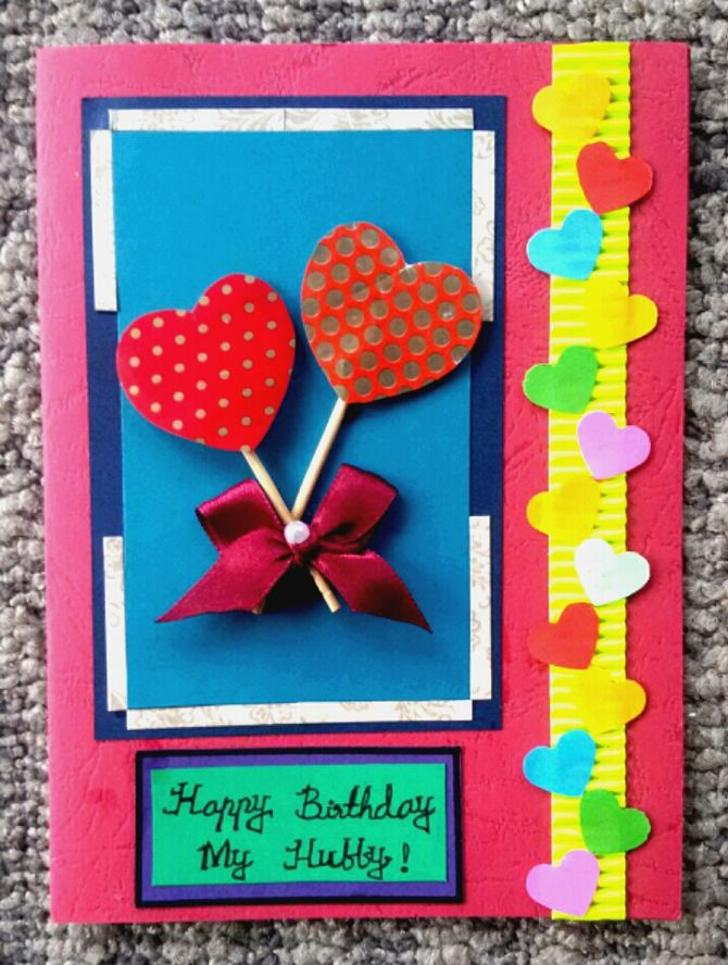 hand make birthday card ; how-to-make-a-simple-birthday-card-how-to-make-a-simple-handmade-birthday-card-15-steps-1