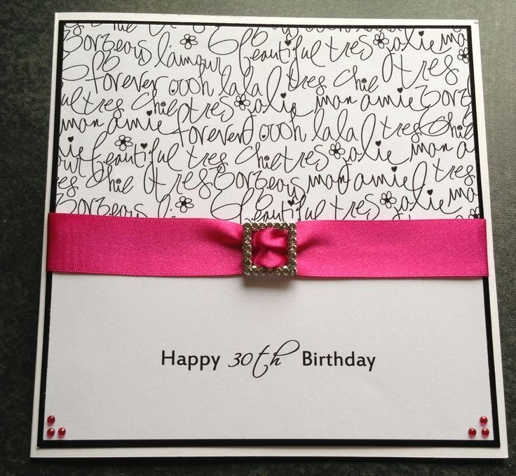 handmade 30th birthday card ideas ; 7f64d7ede7073f4704b1e69049601eaa--handmade-card-making-handmade-cards