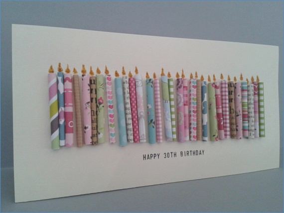 handmade 30th birthday card ideas ; happy-30th-birthday-candle-card-with-30-paper-candles-female-on-of-handmade-30th-birthday-card-ideas