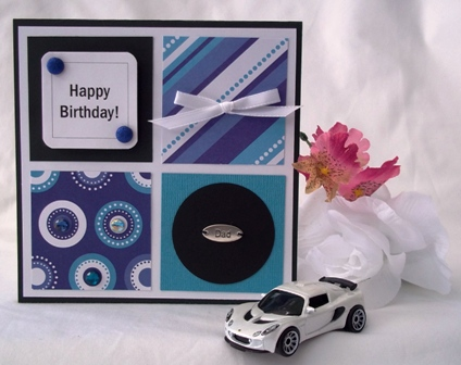 handmade masculine birthday card ideas ; bday-four-square-dad-websm