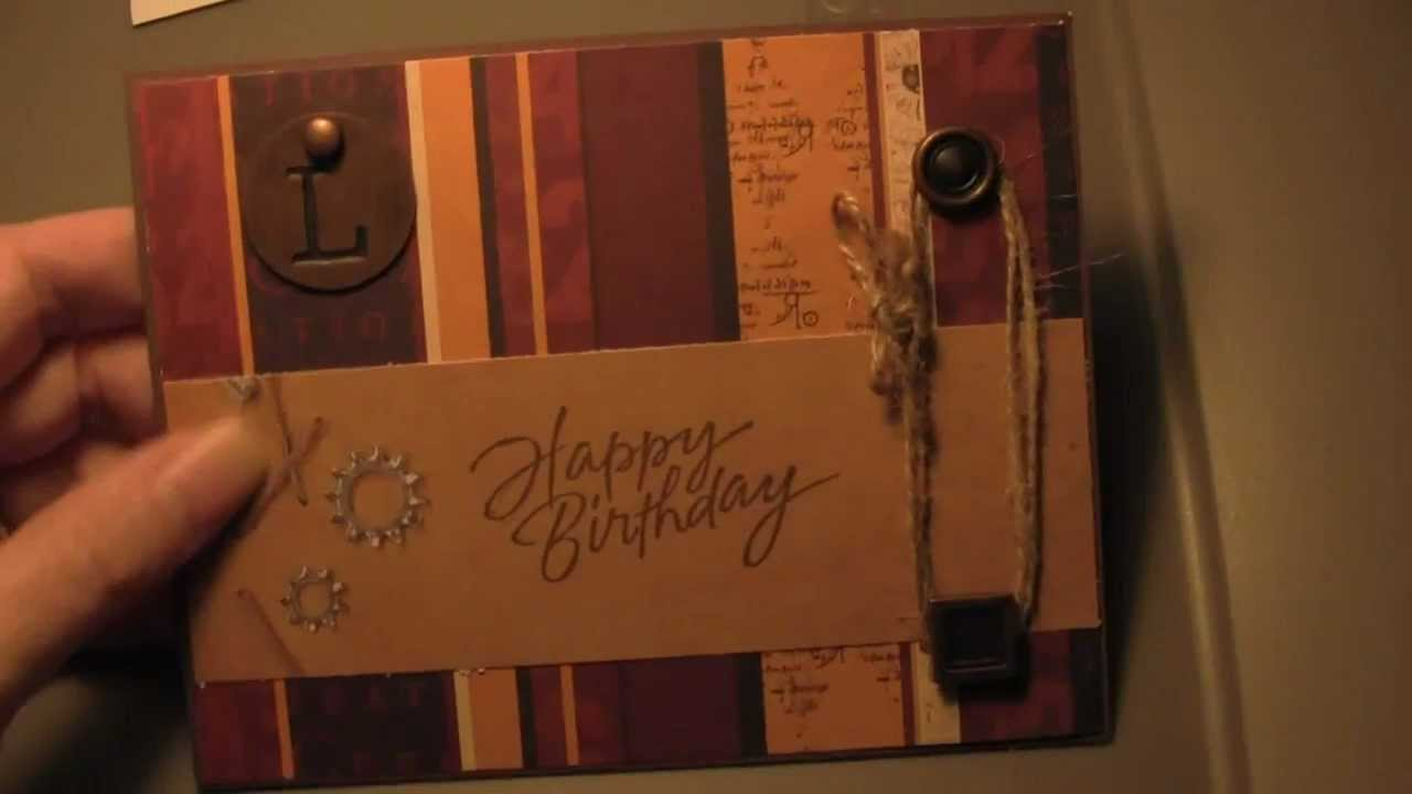 handmade masculine birthday card ideas ; maxresdefault