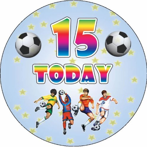 happy 15th birthday boy ; birthday-boy-happy-birthday-age-15-7-5-football-style-circular-edible-cake-topper-made-with-real-icing-cake-not-supplied_4578939
