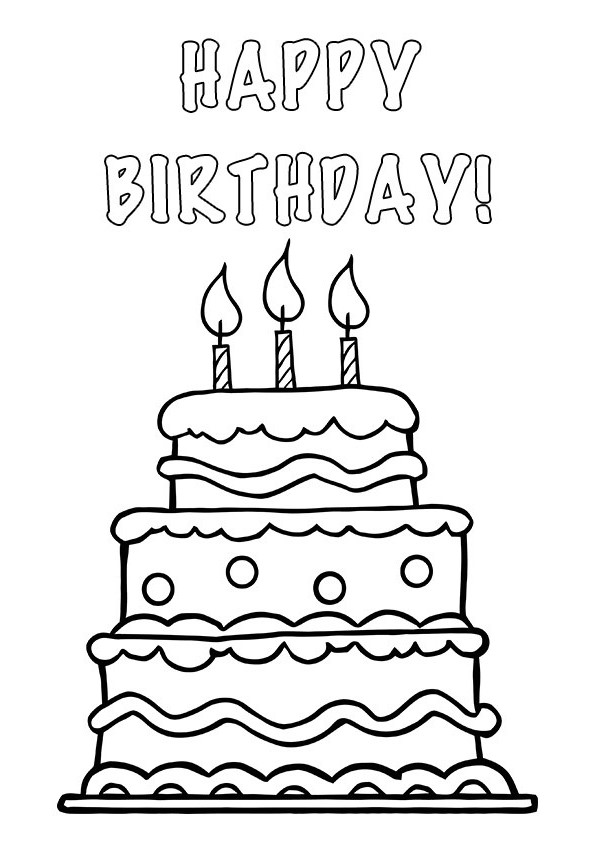 happy 20th birthday cards printable ; black-and-white-birthday-cake-with-candles-clip-art-print