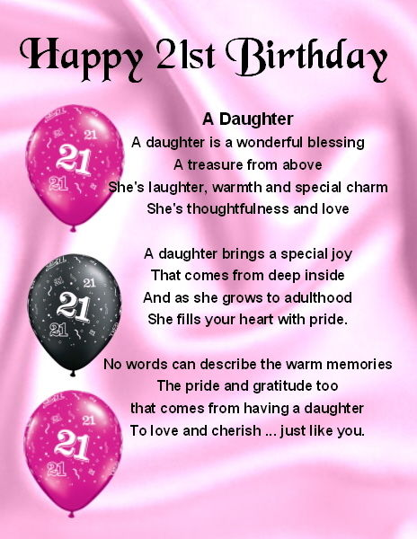 happy 21st birthday to my daughter poem ; dad6123411166f0201b26756c3f2f5d9