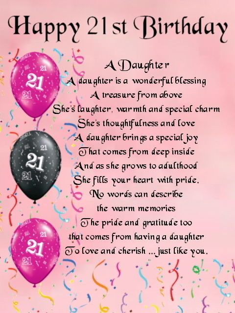 happy 21st birthday to my daughter poem ; s-l1000