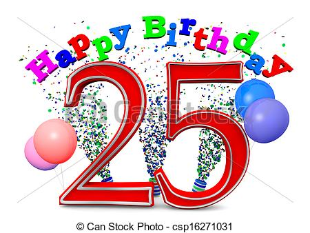 happy 25th birthday images ; happy-25th-birthday-drawings_csp16271031