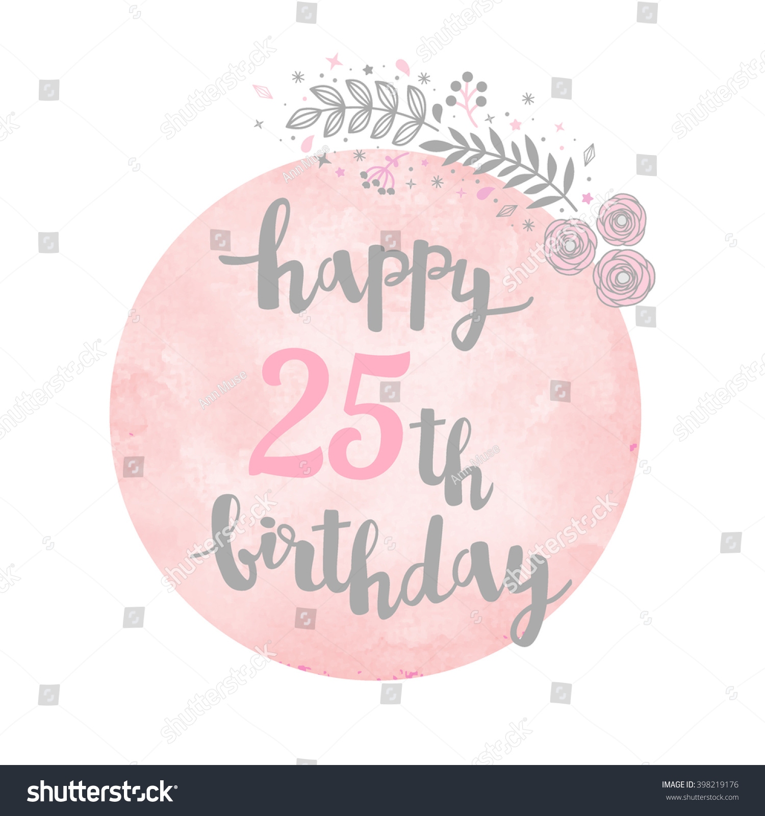 happy 25th birthday images ; stock-vector-happy-th-birthday-greeting-card-floral-pattern-watercolor-background-calligraphy-lettering-398219176