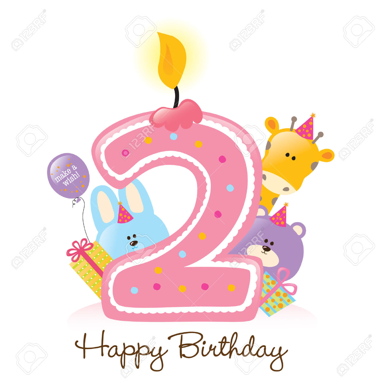 happy 2nd birthday ; happy-2nd-birthday-clipart-1