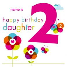 happy 2nd birthday daughter card ; 02143pc