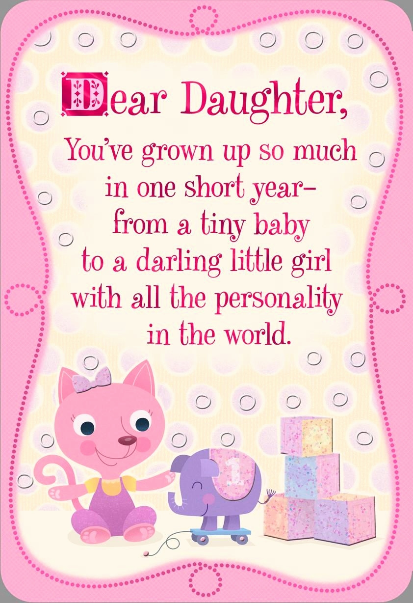 happy 2nd birthday daughter card ; birthday-cards-for-little-girl-beautiful-pink-kitten-1st-birthday-card-for-daughter-greeting-cards-hallmark-of-birthday-cards-for-little-girl