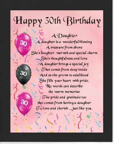happy 30th birthday daughter ; 30th-Birthday-daughter-Mounted
