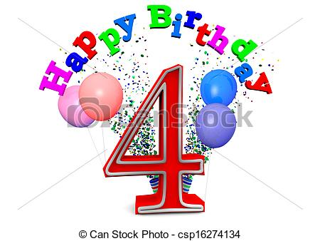 happy 4th birthday images ; happy-4th-birthday-drawings_csp16274134