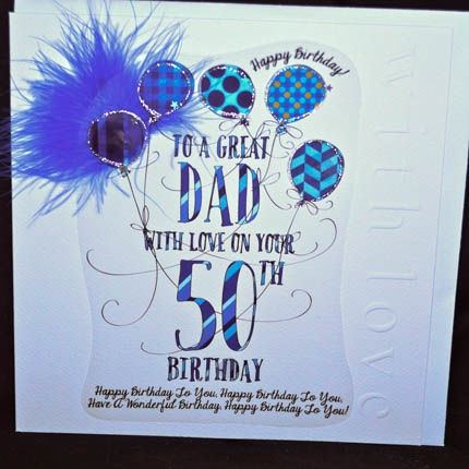 happy 50th birthday dad card ; happy-50th-birthday-dad-card-large-cards-collection-karenza-paperie